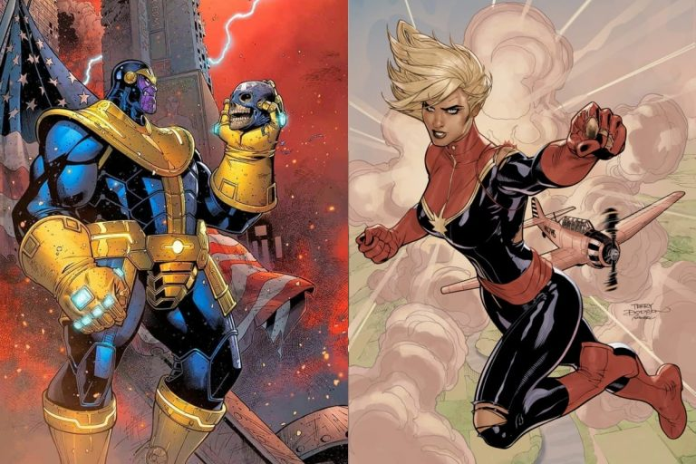 Is Captain Marvel Stronger than Thanos (Comics and Movies)?