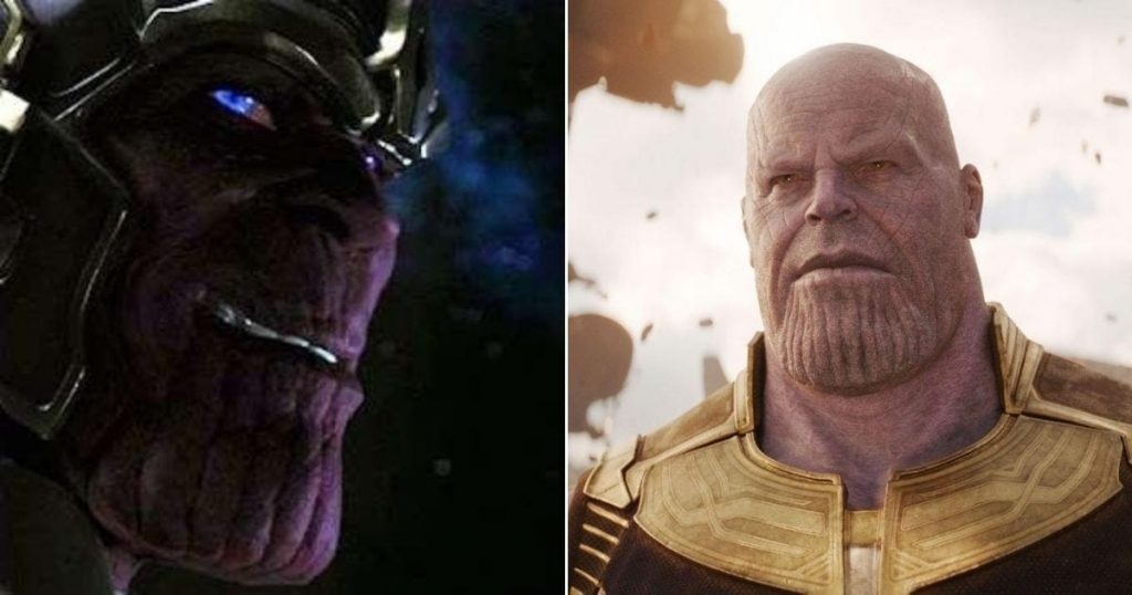 Why is Thanos Purple in MCU?