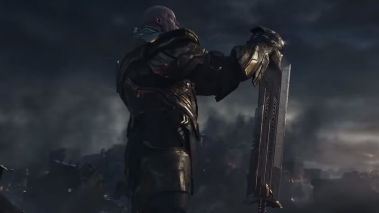 What is Thanos's sword made of?