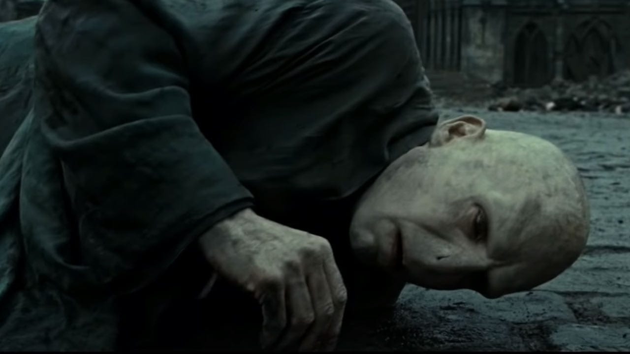 How old is Lord Voldemort when he dies