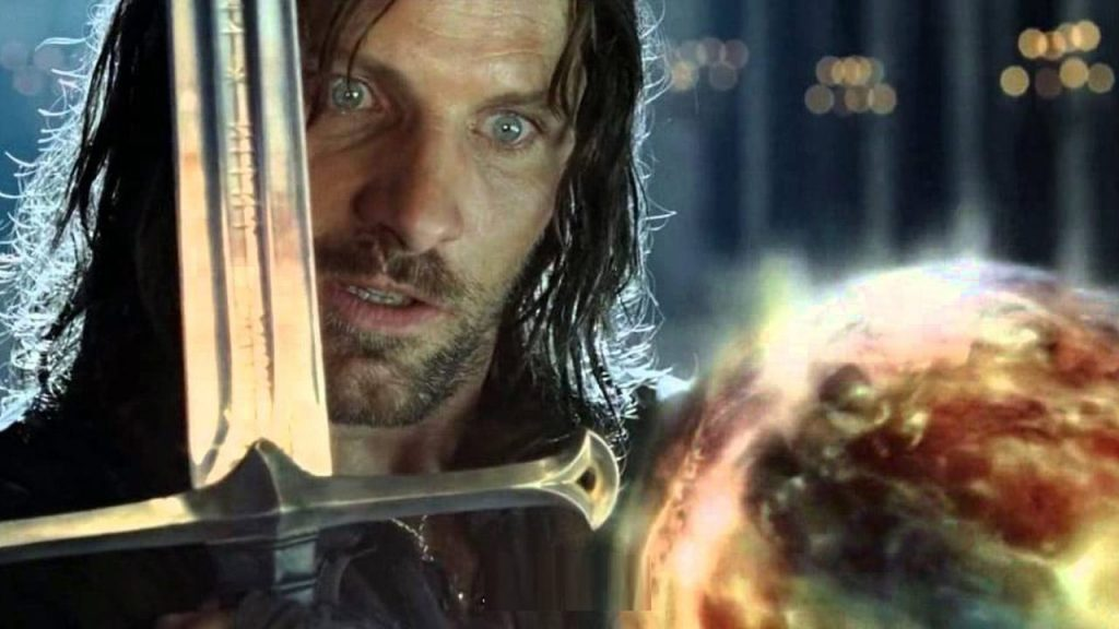 What did Sauron whisper to Aragorn?