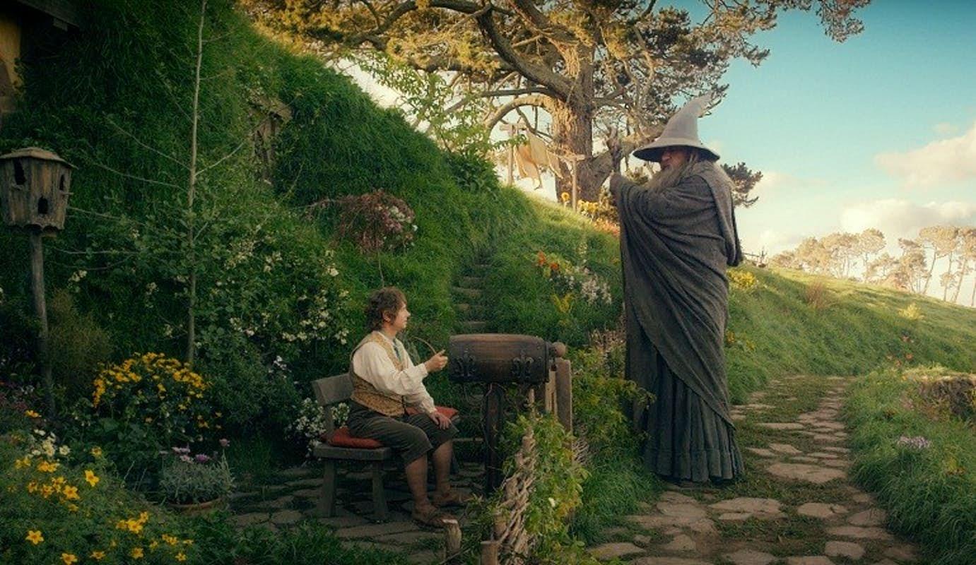What Kind of Mark Does Gandalf Put on Bilbo's Door?