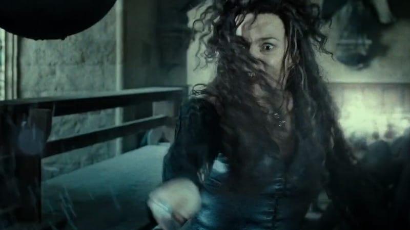 What did Bellatrix Lestrange do to Hermione?