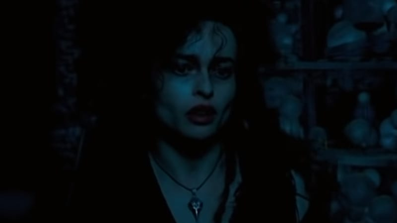 What did Bellatrix do to Ginny Weasley in Harry Potter?