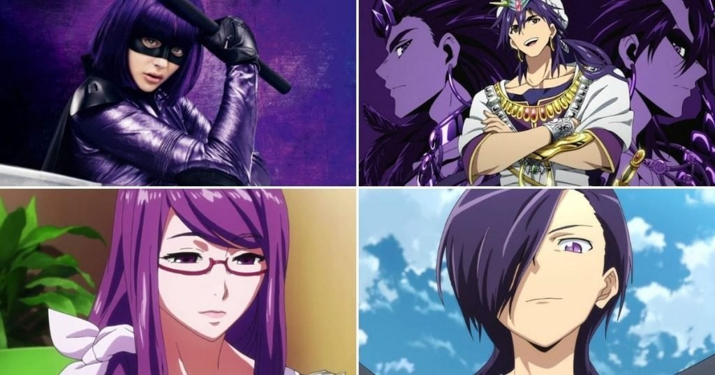 15 Best Fictional Characters With Purple Hair of All Time