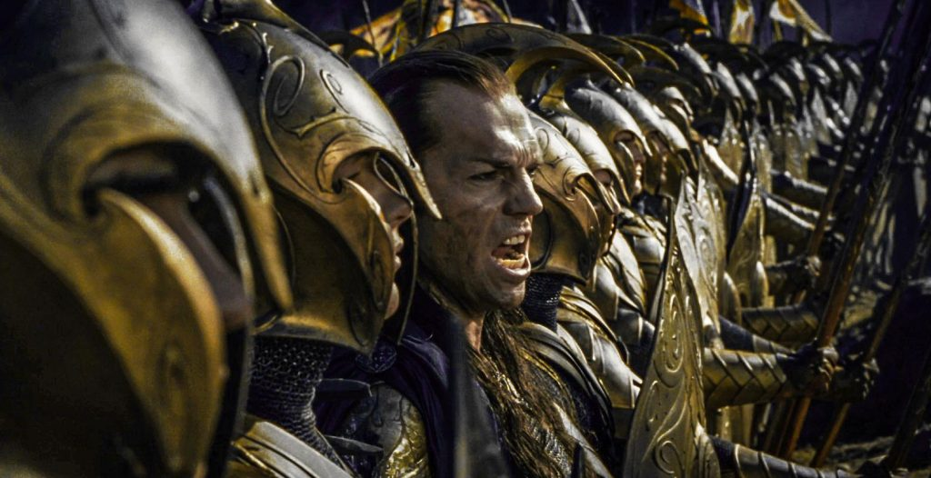 What Does Elrond Say at the Battle of the Last Alliance?