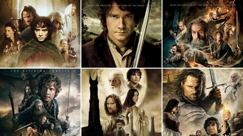The Hobbit and The Lord of the Rings Movies in Order