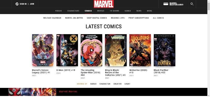Marvel - Best Comic Blogs and Websites
