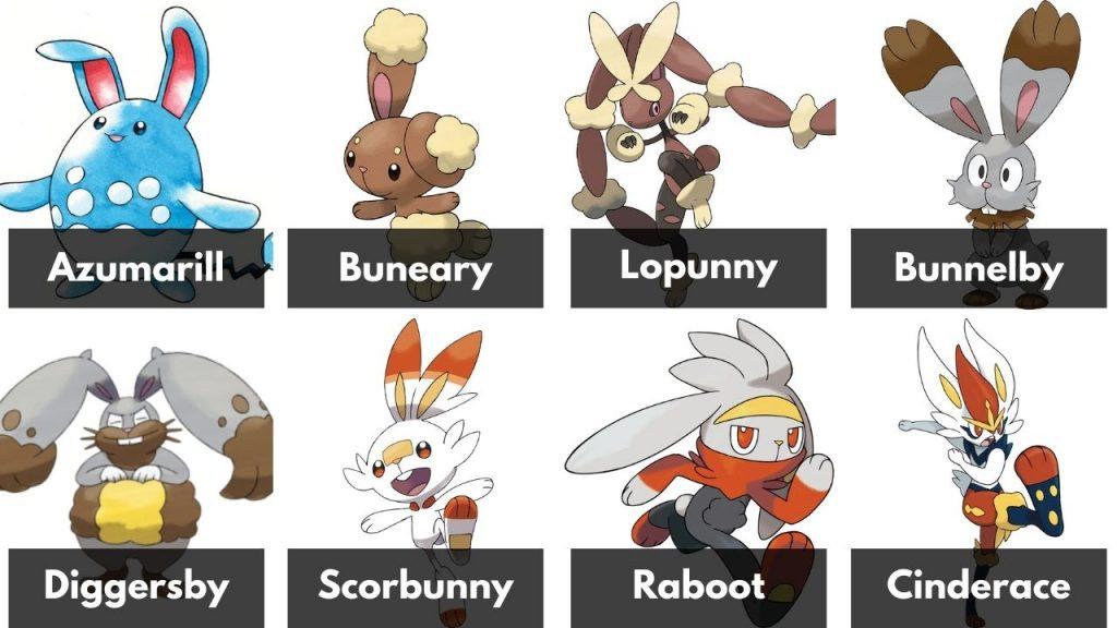 All 8 Rabbit Pokémon