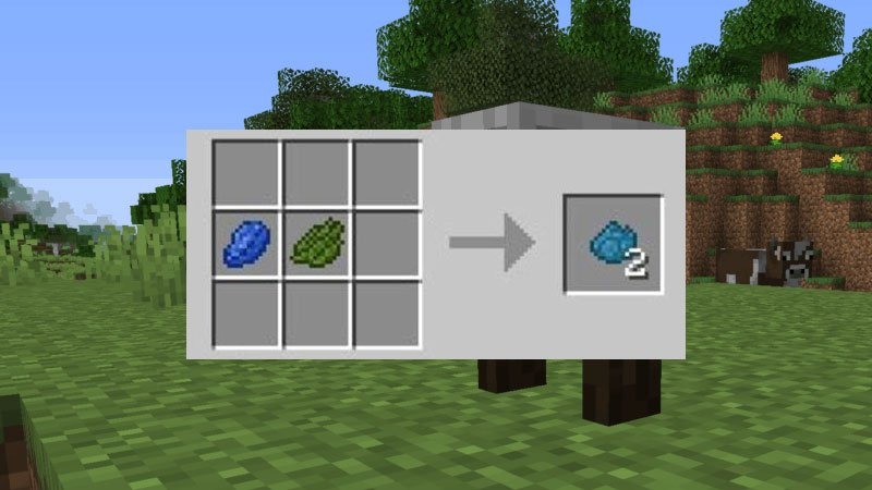 How To Make Cyan Dye In Minecraft