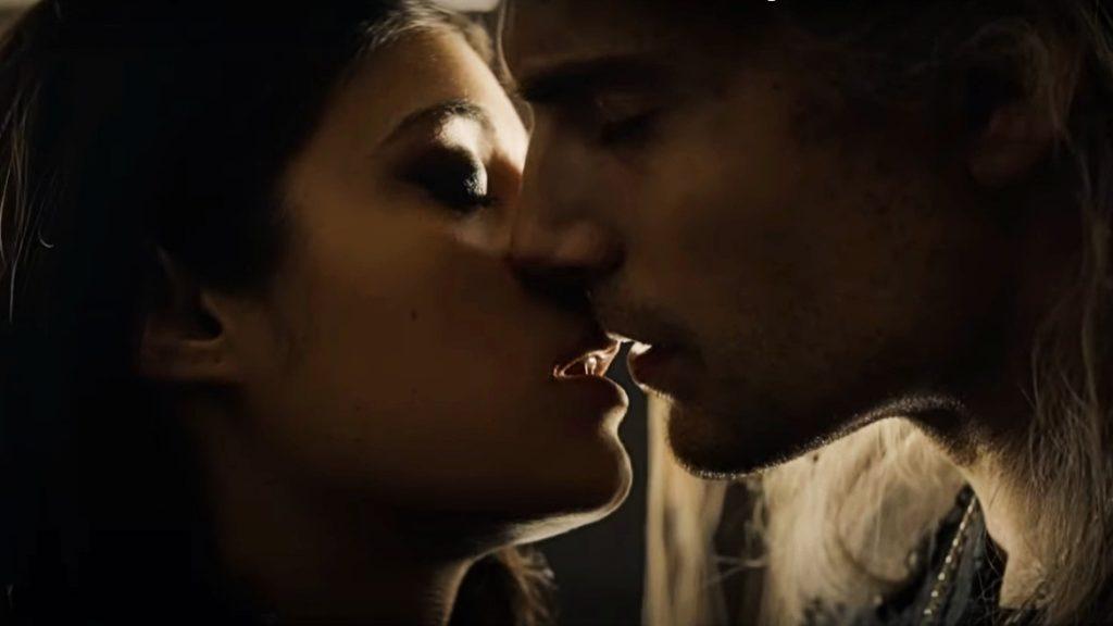 yennefer and geralt kiss