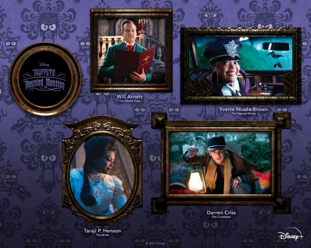 """In """"Muppets Haunted Mansion"""" the Great Gonzo – world famous daredevil artiste, has done it all, seen it all, and survived it all. But on Halloween night, the fearless Gonzo takes on the greatest challenge of his life by spending one very daring night in the most grim grinning place on Earth …The Haunted Mansion. """"Muppets Haunted Mansion"""" will also feature special appearances from Chrissy Metz (as Harriet), Alfonso Ribeiro (as Fred), Edward Asner (as Claude), Jeannie Mai (as Maude), Danny Trejo (as Huet), Sasheer Zamata (as Mary), Craig Robinson (as Bust), Skai Jackson (as Bust), Pat Sajak (as Bust), Geoff Keighley (as Bust), Justina Machado (as Bust), John Stamos (as Himself) and Kim Irvine (as Haunted Mansion Maid). The """"Muppets Haunted Mansion"""" EP will be set for release on Friday, October 8 from Walt Disney Records and will include three new original songs titled """"Rest in Peace,"""" """"Life Hereafter"""" and """"Tie the Knot Tango,"""" plus a cover of """"Dancing in the Moonlight."""""""